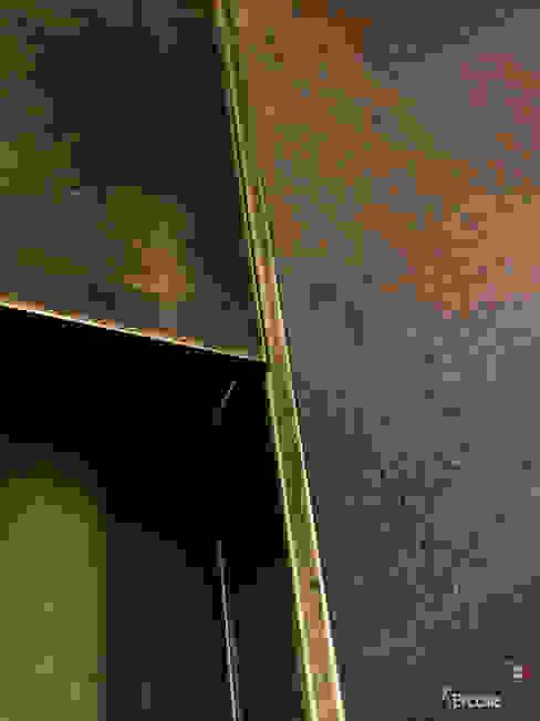 Dettagli in ottone brunito maniglia porta blindata Ercole Srl Porte d'ingresso Rame / Bronzo / Ottone Ambra/Oro
