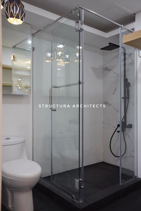 Shower Area Structura Architects BathroomBathtubs & showers