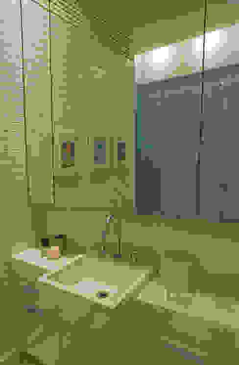 Cobertura AJM Viviane Cunha Arquitetura Casas de banho modernas