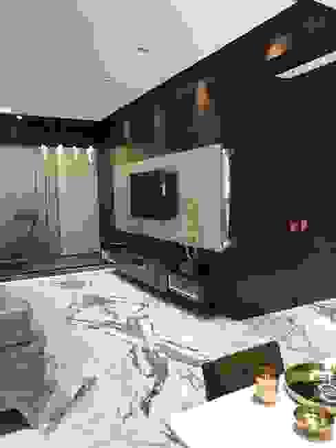 Tv unit in living room:  Living room by Obaku Design,