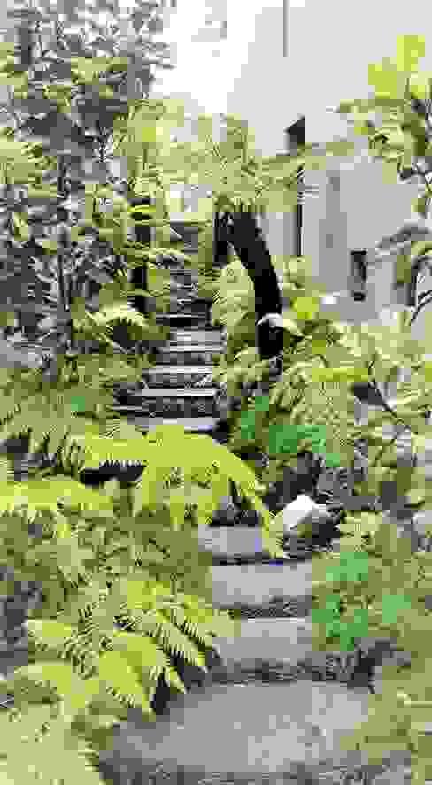 Acceso al jardin Jardines modernos de Huatan Moderno