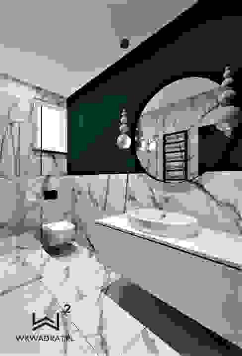 Łazienka gościnna: styl , w kategorii Łazienka zaprojektowany przez Wkwadrat Architekt Wnętrz Toruń