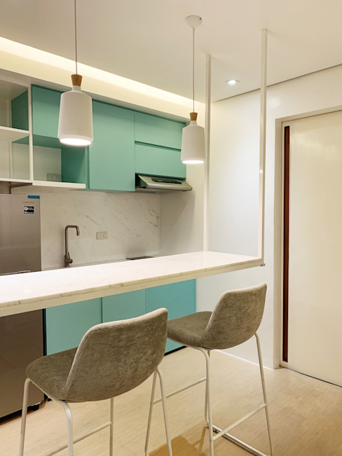 32.23 Residence Pluszerotwo Design Studio Minimalist dining room