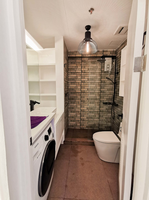 Zinnia Towers Project Modern bathroom by TG Designing Corner Modern