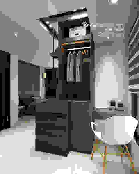 角落設計:  更衣室 by 木博士團隊/動念室內設計制作, 現代風