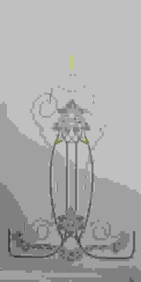 Mit Hilfe unserer Schablone konnte dieses Motiv erhalten bleiben! ab-design GmbH Mediterrane Veranstaltungsorte