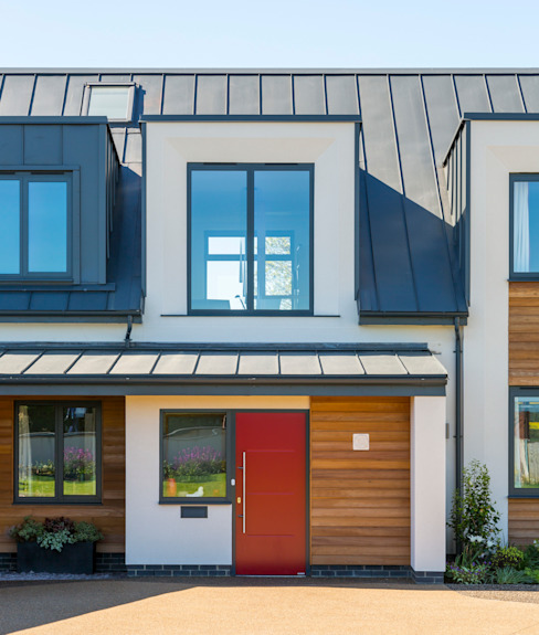 modern front door Townscape Architects Passive house
