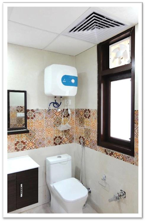 Washroom. Modern style bathrooms by Ecoinch Services Private Limited Modern