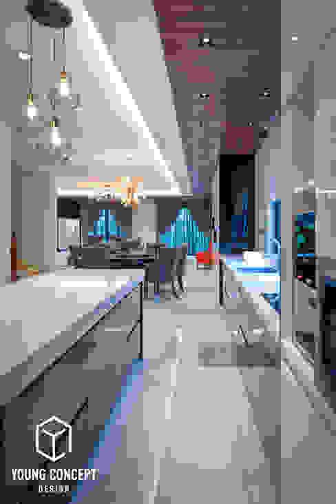 Semi-D @ Bukit Segar Young Concept Design Sdn Bhd Modern style kitchen