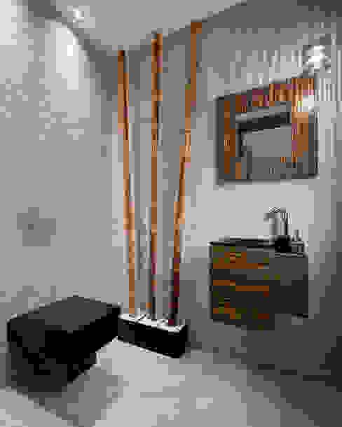 Aseo de cortesía. Baños de estilo moderno de arQmonia estudio, Arquitectos de interior, Asturias Moderno