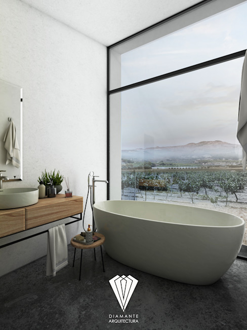 Baño: Baños de estilo  por Diamante Arquitectura,
