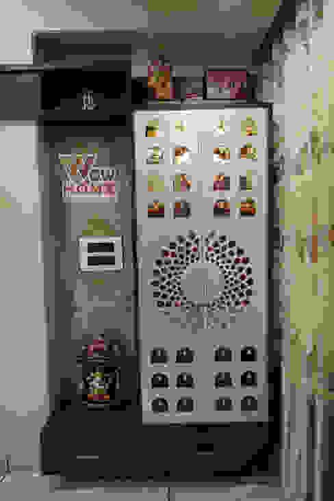 Living Room - Puja Area Modern living room by Wow Homz Modern Wood Wood effect