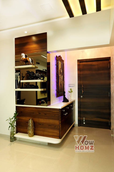 Foyer Area Modern living room by Wow Homz Modern Solid Wood Multicolored