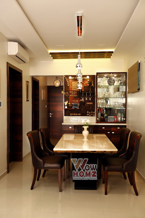 Dining Area Modern living room by Wow Homz Modern Wood Wood effect