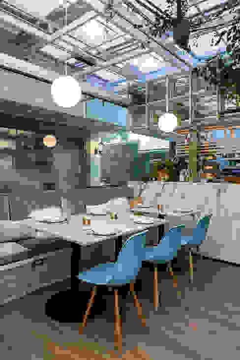 Epice Bosques PASQUINEL Studio Gastronomía de estilo ecléctico Mármol Blanco