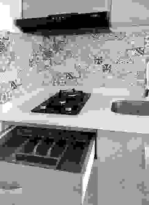 Cubiertero y área de cocción de Remodelar Proyectos Integrales Moderno Cuarzo