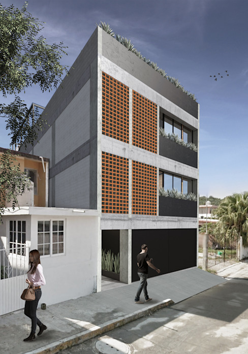 VILLAS POZA RICA: Condominios de estilo  por G._ALARQ.,