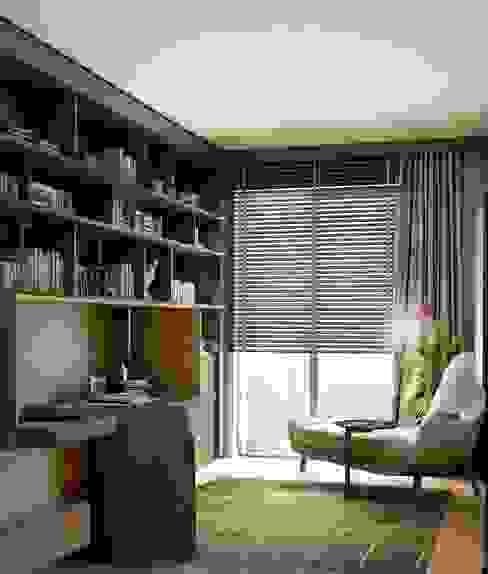 Estudios y biblioteca de estilo  por Lego İç Mimarlık & İnşaat Dekorasyon ,