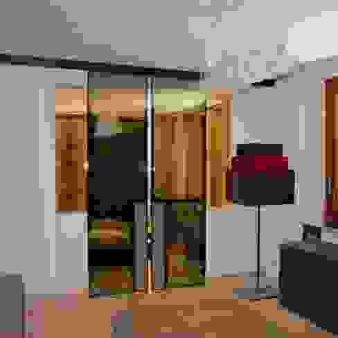 Camera da letto padronale Sabina Casol - Architetto Camera da letto eclettica Rame / Bronzo / Ottone Marrone