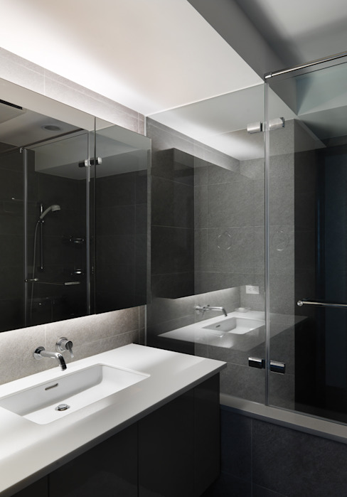 板橋周宅 形構設計 Morpho-Design 現代浴室設計點子、靈感&圖片