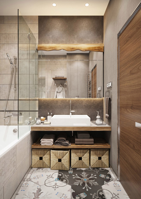 Post Modern Residency :  Bathroom by ACOR HOME LIFE SOLUTIONS,
