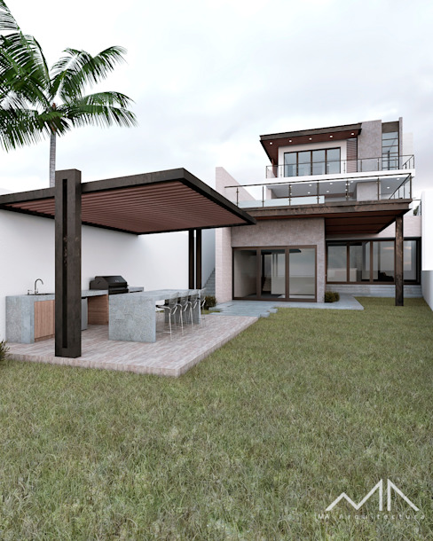 MA Arquitectura Modern Garden Wood White
