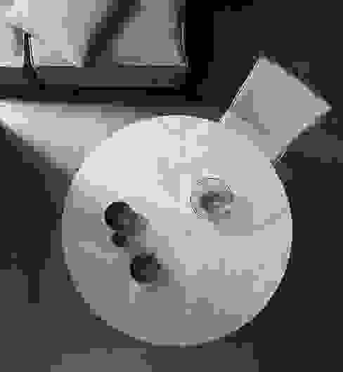 Tavolo rotondo pieghevole Sala da pranzo moderna di Mobili a Colori Moderno Legno composito Trasparente