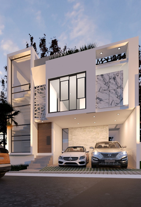 DISEÑO HABITACIONAL Casas modernas de SKETCH ARQUITECTOS Moderno