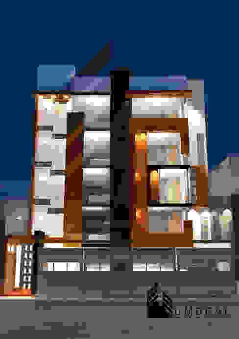 VISTA FRONTAL de Umbral arquitectura y construccion Minimalista