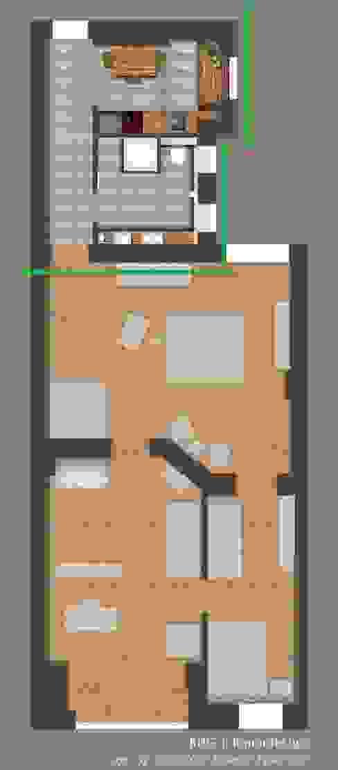 Übersicht der gesamten Fläche: modern  von KHG Raumdesign - Innenarchitektin in Berlin und Umland, mgr. ing. Architektur Katharina Hajduk-Gast,Modern