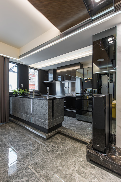 廚房 根據 你你空間設計 現代風 大理石