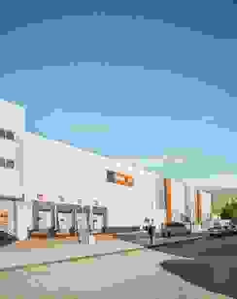 Diseño de fachada lateral para nave industrial Tono Lledó Estudio de Interiorismo en Alicante Edificios de oficinas de estilo moderno