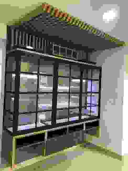 VIVIENDA MULTIFAMILIAR Salas multimedia de estilo moderno de SEQUOIA. Projects & Designs Moderno