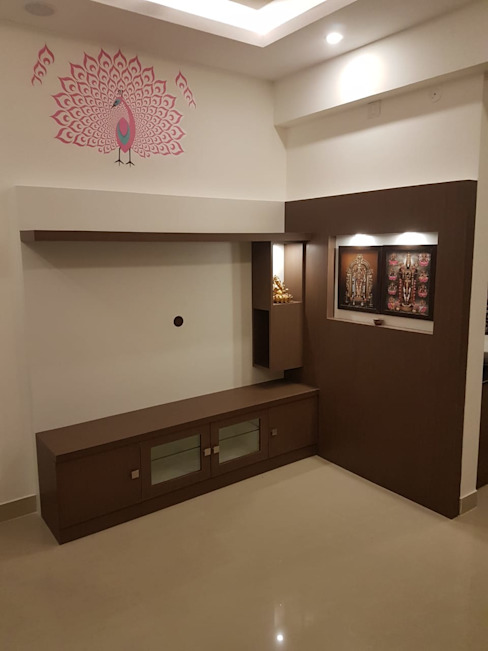 2BHK Residential Interiors at VGN Hazel by Interios by MK Design