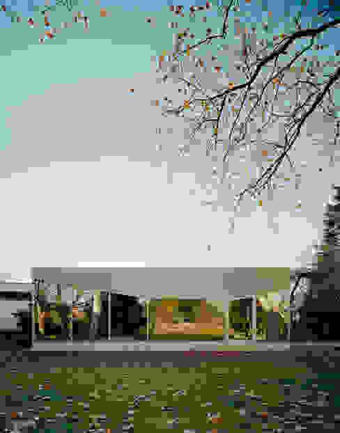 Gastronomía de estilo minimalista de AMUNT Architekten in Stuttgart und Aachen Minimalista Vidrio
