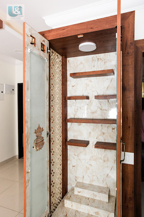 Inside the Puja Unit: modern  by U and I Designs,Modern