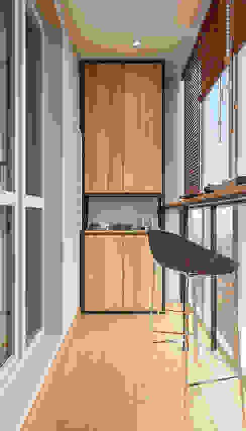 Дизайн - проект однокомнатной квартиры в г. Москве от CUBE INTERIOR Минимализм