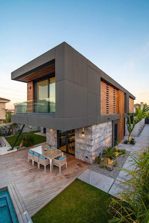 Villa Duo Başak Akkoyunlu Design Villa Beton Gri