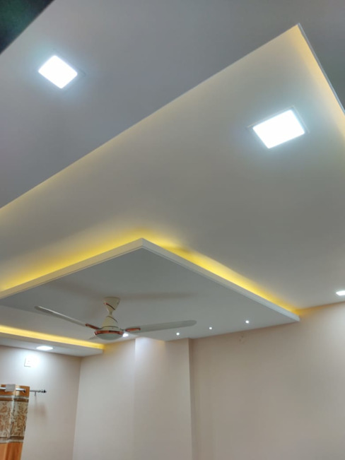 POP With Ceiling Lights Homagica Services Private Limited BedroomLighting