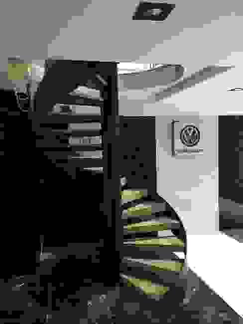Pİ METAL TASARIM MERDİVEN – OFİS MERDİVEN:  tarz Merdivenler, Modern