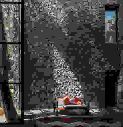Sala Saavedra Arquitectos Salones rústicos rústicos Piedra Gris