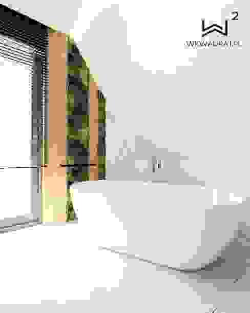 Wanna Minimalistyczna łazienka od Wkwadrat Architekt Wnętrz Toruń Minimalistyczny Drewno O efekcie drewna