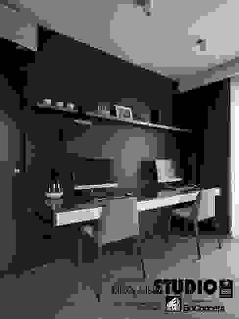 Dom w Wieliczce - zdjęcia Nowoczesne domowe biuro i gabinet od MIKOŁAJSKAstudio Nowoczesny
