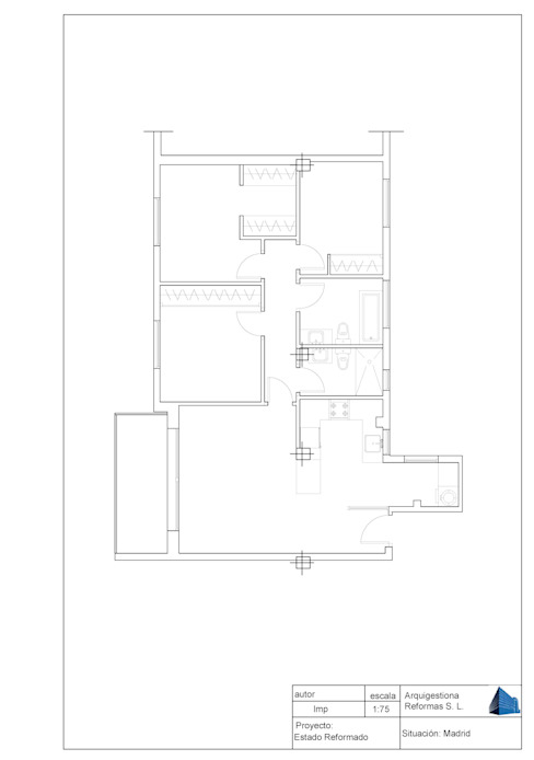 minimalist  by Arquigestiona Reformas S.L., Minimalist