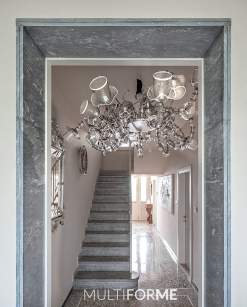 Temptation chandelier - Villa in Franciacorta MULTIFORME® lighting Stairs