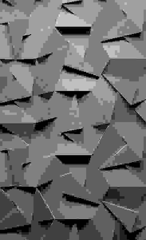 ZICARO - producent paneli 3D モダンな 壁&床 セラミック 灰色