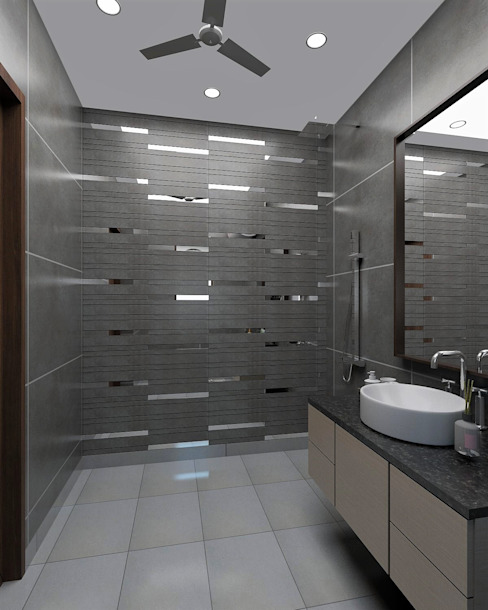 Master Bathroom- Spacious Cozy Space Modern bathroom by Tanish Dzignz Modern