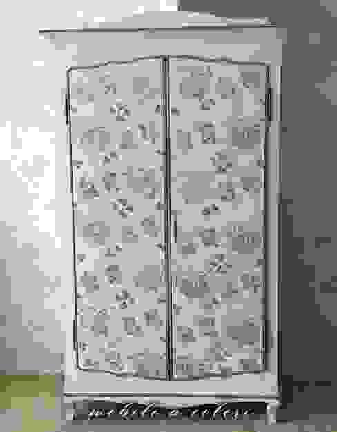Armadio stile provenzale 2 ante Mobili a Colori Camera da letto piccola Legno Bianco