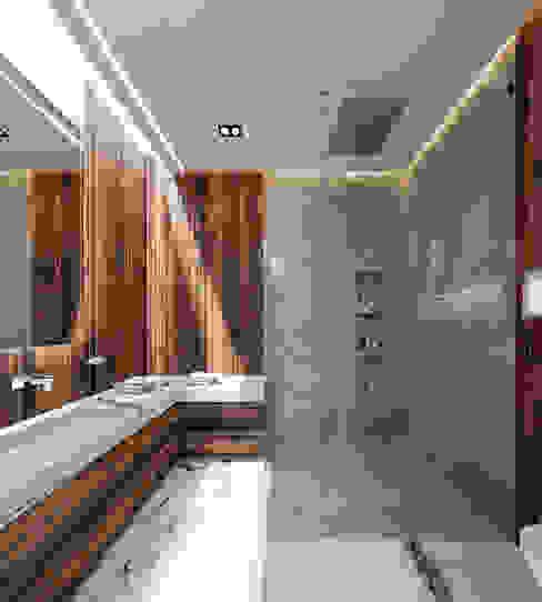 Bellísimo baño de residencia de lujo Baños minimalistas de Rebora Minimalista Concreto