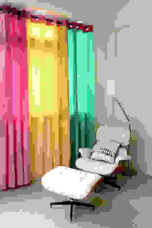 高彩度的自在居家,讓窗簾也能營造主色調|Donzu 拼色布簾.布簾 / 門簾 / 隔間簾 根據 MSBT 幔室布緹 北歐風 MDF
